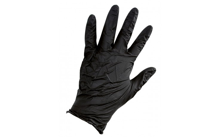 Nitril-Einweghandschuhe schwarz, ungepudert