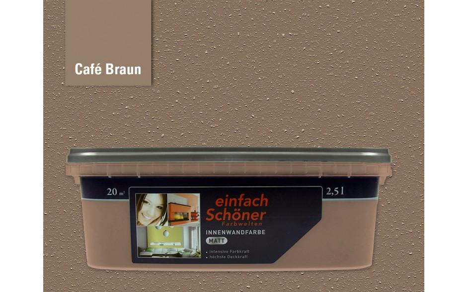 Wandfarbe innen cafe braun einfach schoener farbwelten - Wandfarbe deckkraft 1 ...