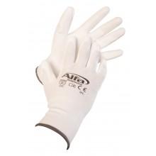 Montagehandschuh weiß Größe 10 (909 Alfa Montagehandschuhe weiß (PU-beschichtet))